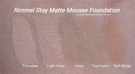Rimmel Stay Matte Foundation nyx stay matte not flat foundation rimmel stay matte