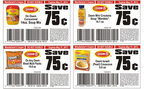 printable grocery coupons osem list of healthy food printable coupons 2013 print