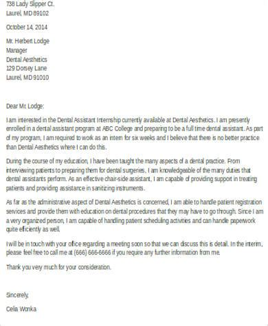 sle dental assistant cover letter 9 exles in word