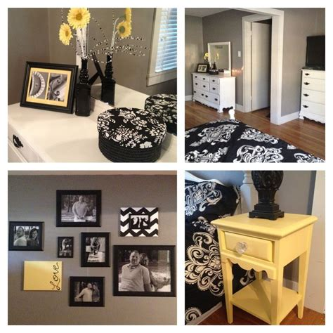 Black White Grey And Yellow Bedroom by 1000 Ideas About Gray Yellow Bedrooms On