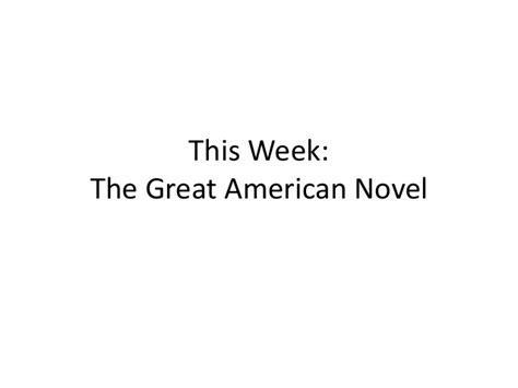 Great American Novel by The Great American Novel