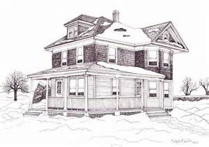 sketch a house bob s grandparent s house drawing by michelle welles
