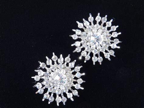 Rhinestone Snowflake Brooch coro pair rhinestones snowflake brooch pin from