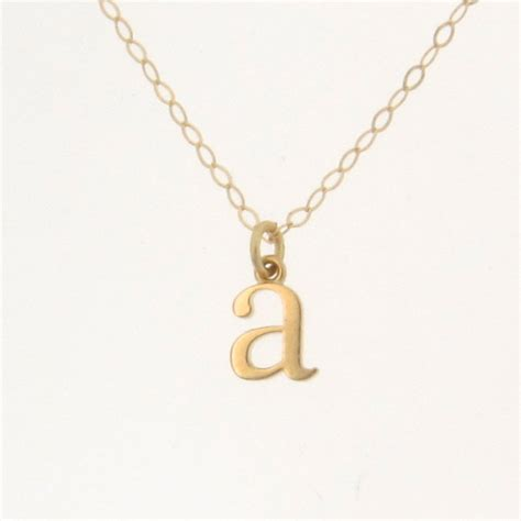 Letter Necklace Tiny Lowercase Letter Necklace Personalized Necklace Your Initial From Theresaminkdesigns On
