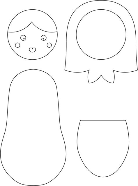 Russian Nesting Dolls Template by Russian Nesting Dolls Coloring Page Templates Sketch