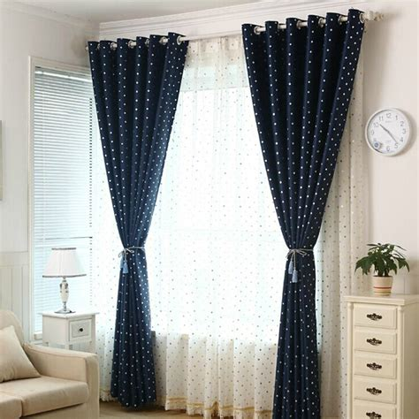 dot curtains affordable navy blackout kids polka dot curtains