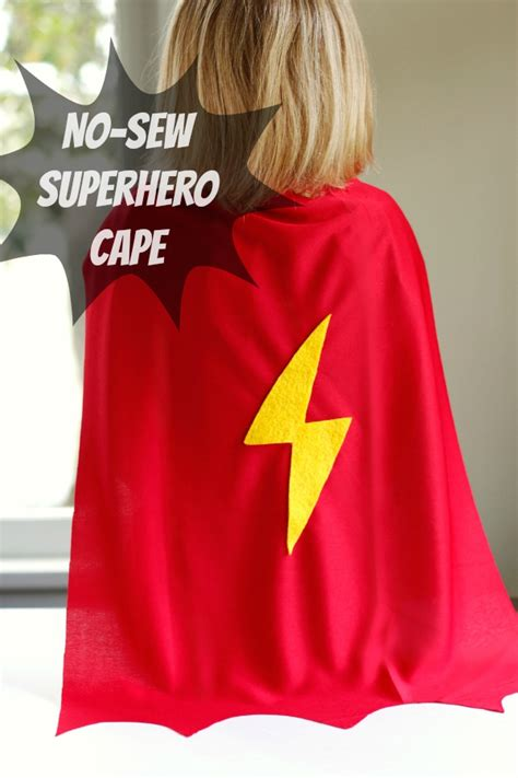diy cape template make a no sew cape for reading powers make