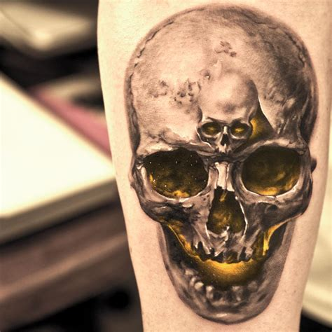 realistic skull tattoo introducing niki23gtr niki norberg