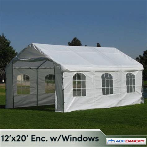 12x20 Canopy Enclosed Canopy 12x20 With Windows