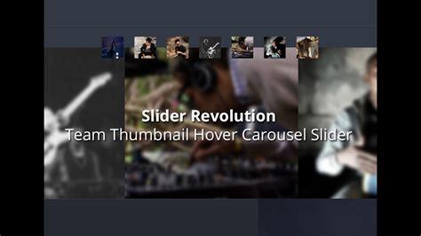 avada theme carousel slider revolution 5 team thumbnail hover carousel slider