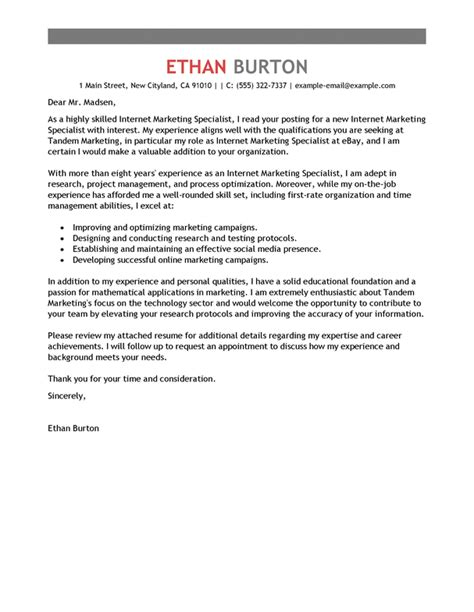 Media Researcher Cover Letter by Unique Exles Of Marketing Cover Letters 78 In Cover Letter Sle For Computer With Exles