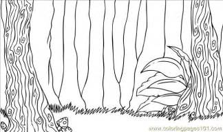 Forest Background Coloring Pages sketch template