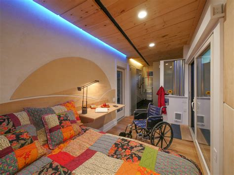 handicap tiny houses wheelchair friendly wheel pad tiny house proves universal design can be cool inhabitat green