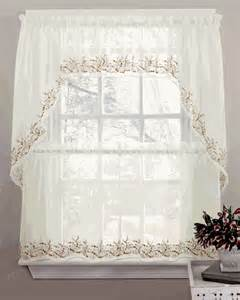 Kitchen Curtains Swags Sheer Curtains Tiers Swags Valance Lorraine Home Fashions Sheer Kitchen Curtains