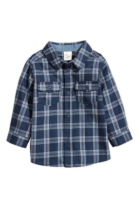 M Plaid Shirt shirt blue plaid sale h m us