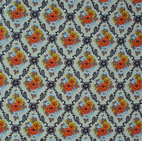 Retro Fabric by Vintage Floral Fabric Www Imgkid The Image Kid Has It