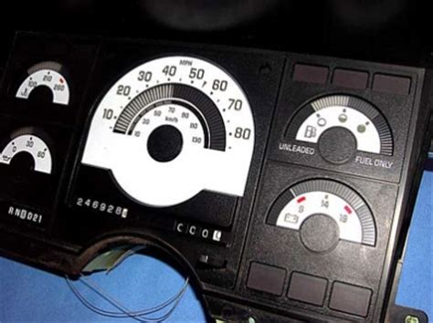 chevrolet truck ck    white face gauges whitegaugesnet