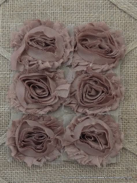 shabby chic fabric flowers six shabby chic fabric flowers chocolate mocha brown