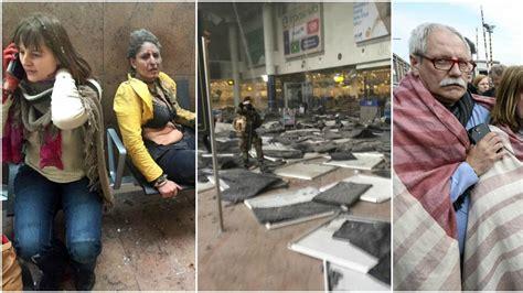 imagenes fuertes atentado bruselas una cadena de atentados causa decenas de muertos en bruselas