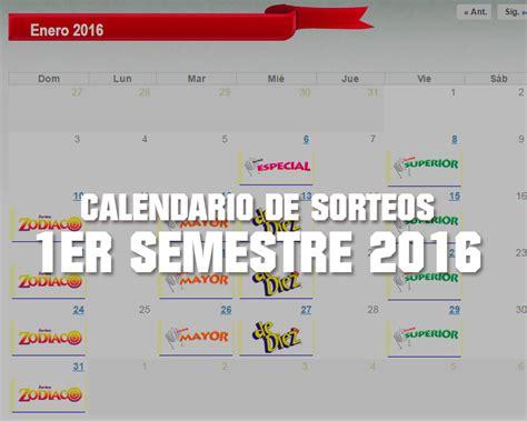 calendario de pago segundo semestre panama 2016 calendario semestre 2016 calendario de sorteos 1er