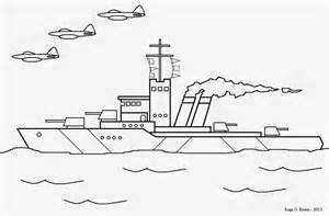 Desenho Para Colorir Navio De Guerra E Ca&231as sketch template