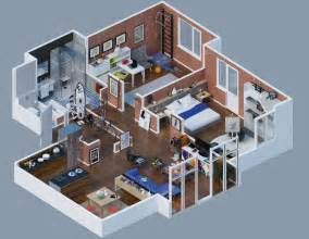 Apartment Layout Large Apartment Layout Brick Interior Interior Design Ideas