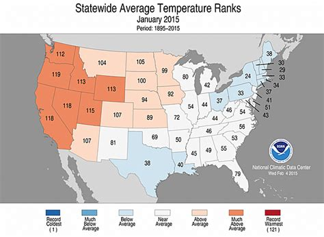 california temperature map january national climate report january 2015 state of the