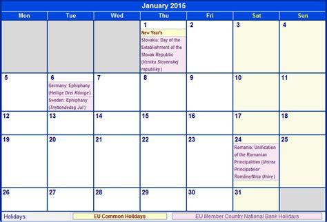 printable planner for january 2015 january 2015 eu calendar with holidays for printing image