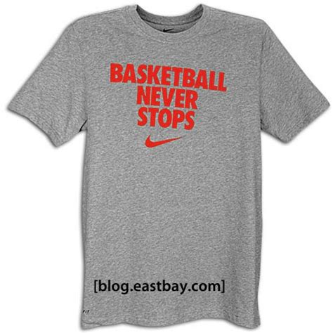 Jersey Basket Nike Never Stops nike quot basketball never stops quot t shirt eastbay eastbay