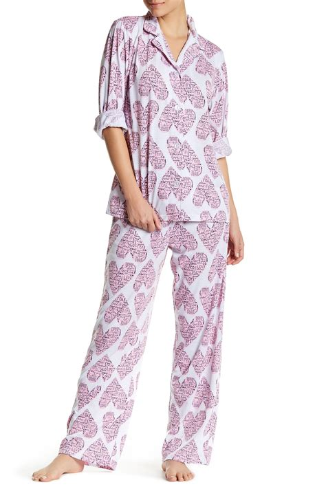 bed head pajamas bhpj by bedhead pajamas printed pajama set nordstrom rack