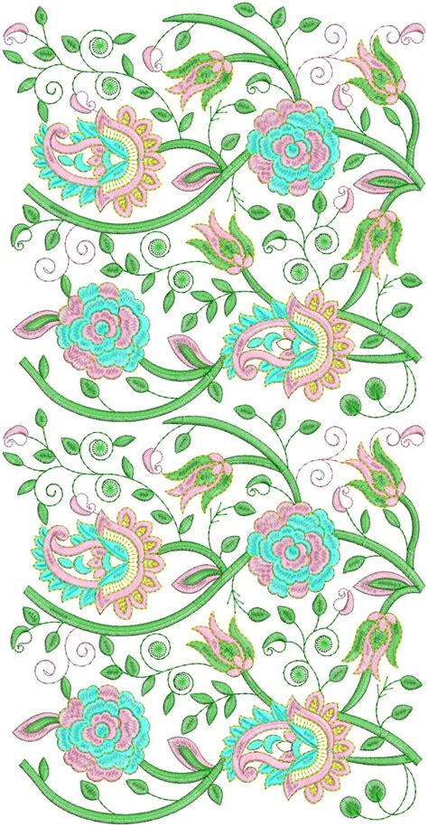 embroidered allover design embdesigntube superb all over metal embroidery designs