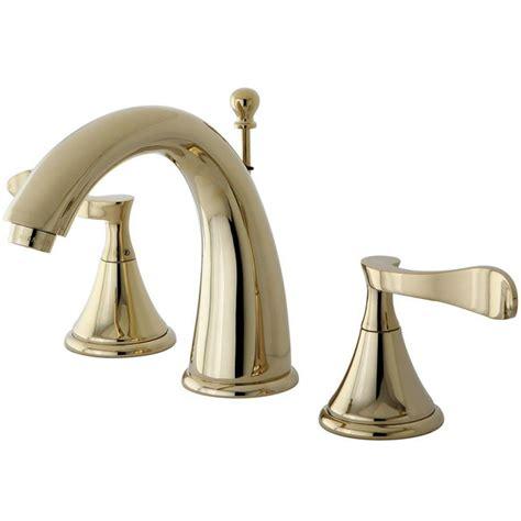kingston brass modern 8 in widespread 2 handle high arc