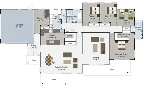 house plans 5 bedrooms rangatikei floor render bedroom house plans rangitikei