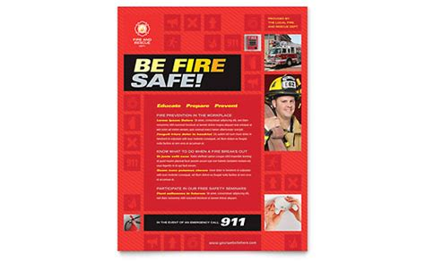 Fire Safety Newsletter Template Design Safety Newsletter Template