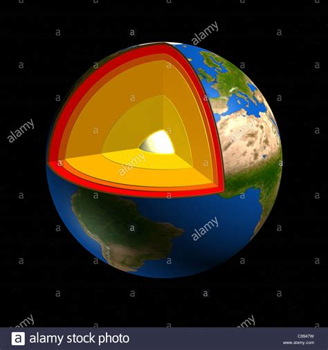 section of earth bowels cross section globe earth s core research science