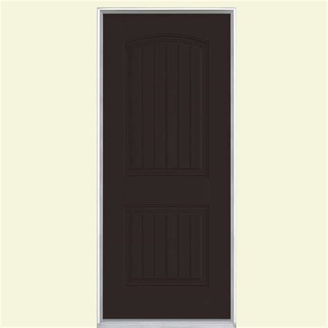 Masonite 32 In X 80 In Cheyenne 2 Panel Painted Smooth 32 X 73 Exterior Door