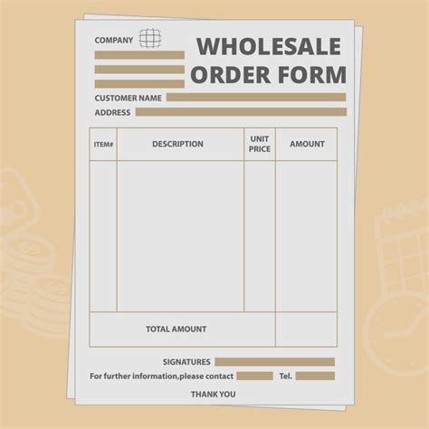 Wholesale Order Form Template Create Your Own For Free Wholesale Order Form Template