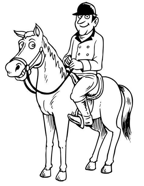 coloring pages of derby horses free large file clipart