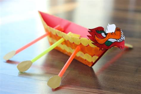 diy dragon boat for kids - Dragon Boat Festival Crafts