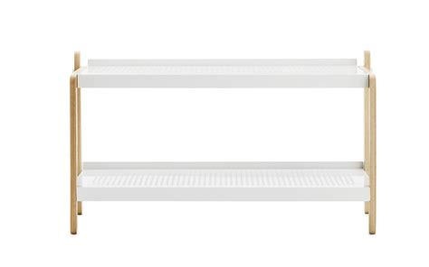 White Shoe Shelf by Sko Shoe Rack In White Industrial Design Shoe Storage