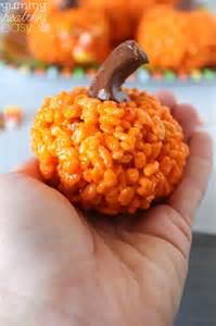 Easy pumpkin krispies treats print rice krispie treats in the