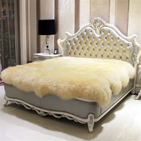 Bed Cover Sprei Murah 1 wool mattress fur one sheepskin meters fleece thickening thermal fur blanket bed cover