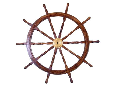 buy deluxe class wood and brass decorative ship wheel 36