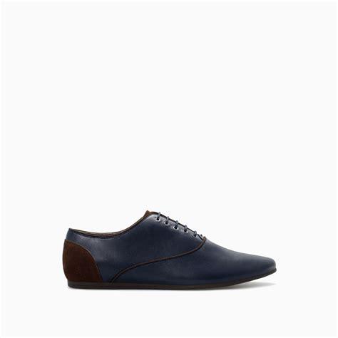 zara oxford shoes zara sporty oxford shoe in blue for lyst