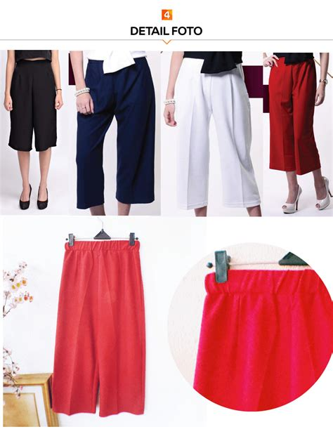 Special Promo Wedges Pleated Cullotes Jp147 Terlaris buy yoorafashion celana kulot wanita high quality kulot deals for only rp75 000 instead