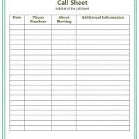Call List Template Search Results For Phone Call Log Sheet Templates Free