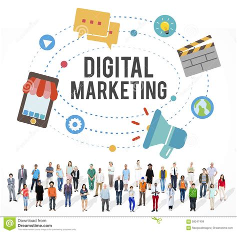 Digital Media Mba Masters Degree by Business Idea Digital Marketing Communication Concept