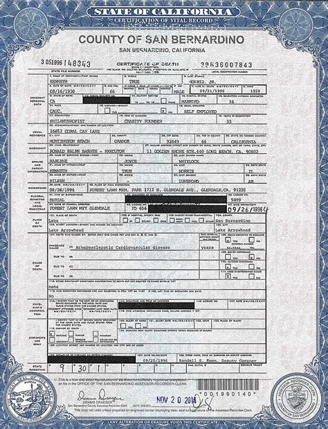 San Bernardino Death Records