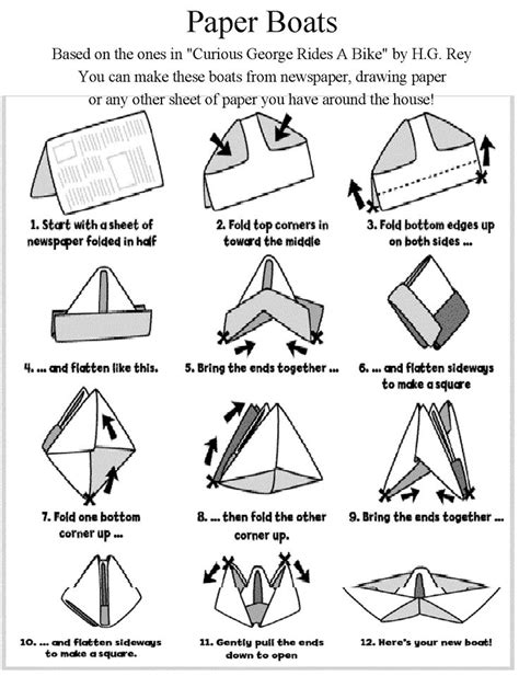 Make Paper Boats - 33 best images about take home crafts on more