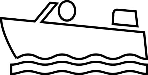 boat outline printable boat outlines colouring pages